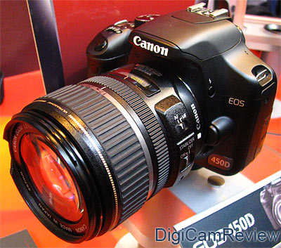 DigiCamReview com | Canon EOS 450D Rebel XSi DSLR Hands On