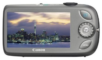 Canon Digital IXUS 110 IS Back