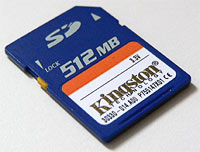 Kingston 512mb SD Card