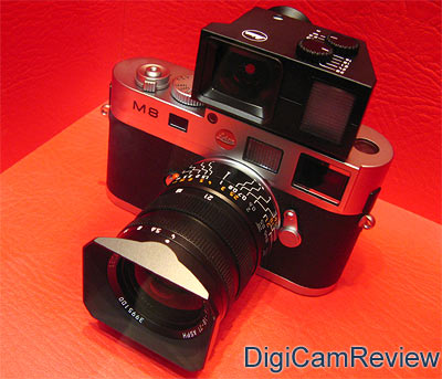 Leica M8 Rangefinder in Silver and Black
