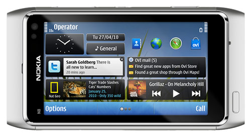 Nokia N8 Screen