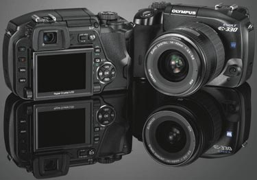 Olympus E-330 Front and Back