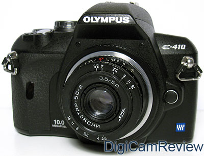 Olympus E-410 with m42 lens