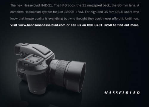 Hasselblad H4D-31 Studio Day