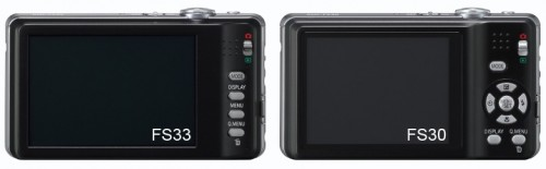Panasonic FS33 and FS30 Back side-by-side