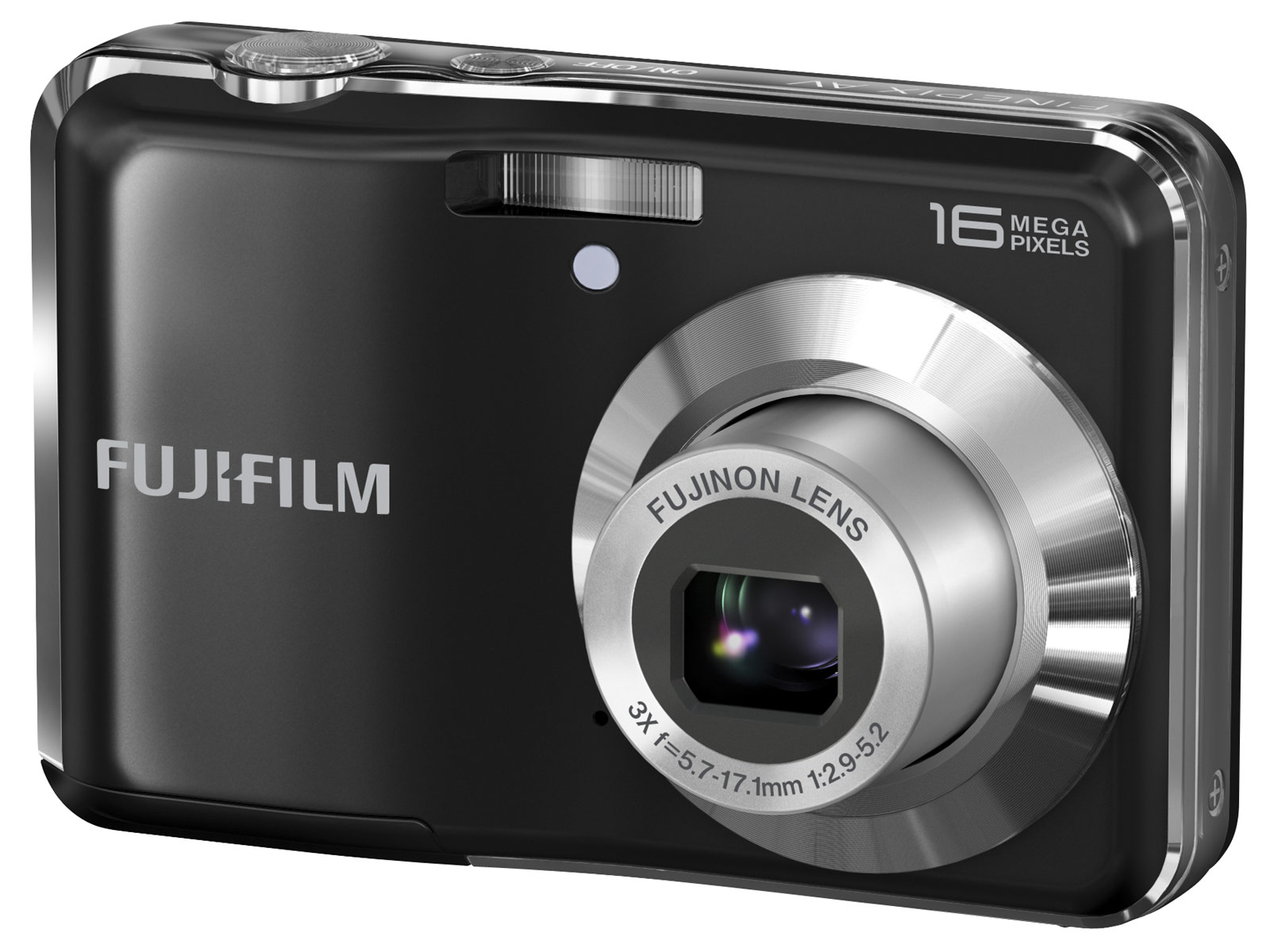 The Fujifilm FinePix AV250, shown below, has a 16mp sensor, 3x optical