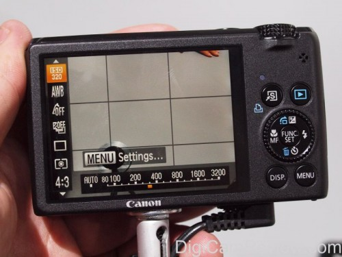Canon Powershot s95 function screen