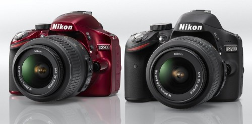 Nikon D3200 red or black DSLR